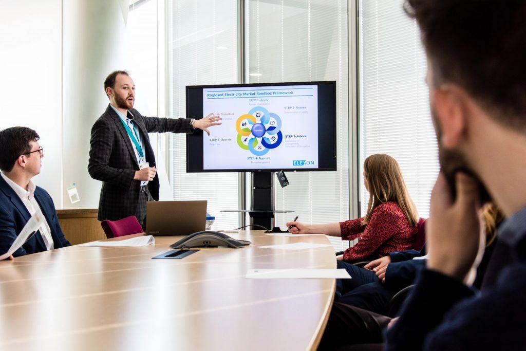 An Elexon meeting in the boardroom