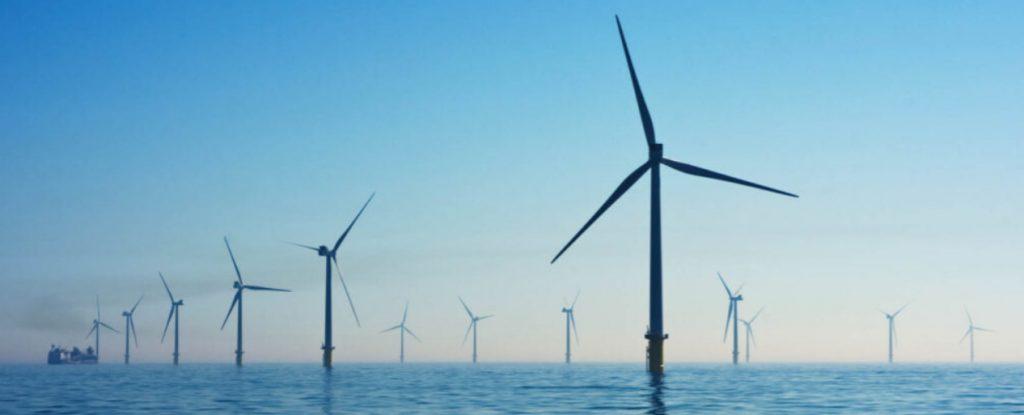 Wind turbines in the sea